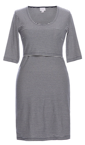 Boob EVA striped Dress - tofu/soft ink