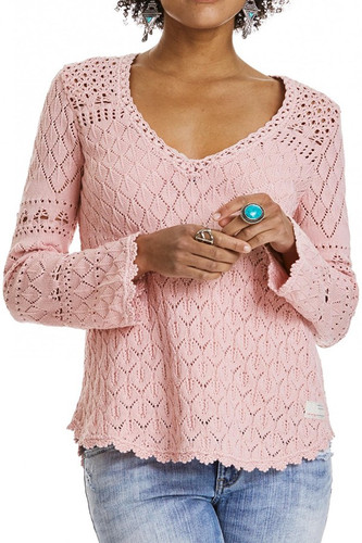 Odd Molly Love Affair Sweater - milky pink