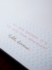 Quotation on the back of the guest book.