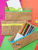 Cork Zippered Pencil Pouch