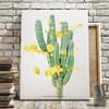 Cactus with gold splatter art print by Earmark Social Goods.