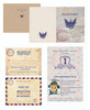 Such a fun invitation for a child's birthday party. The passport style invitation is perfect. | Earmark Social Goods