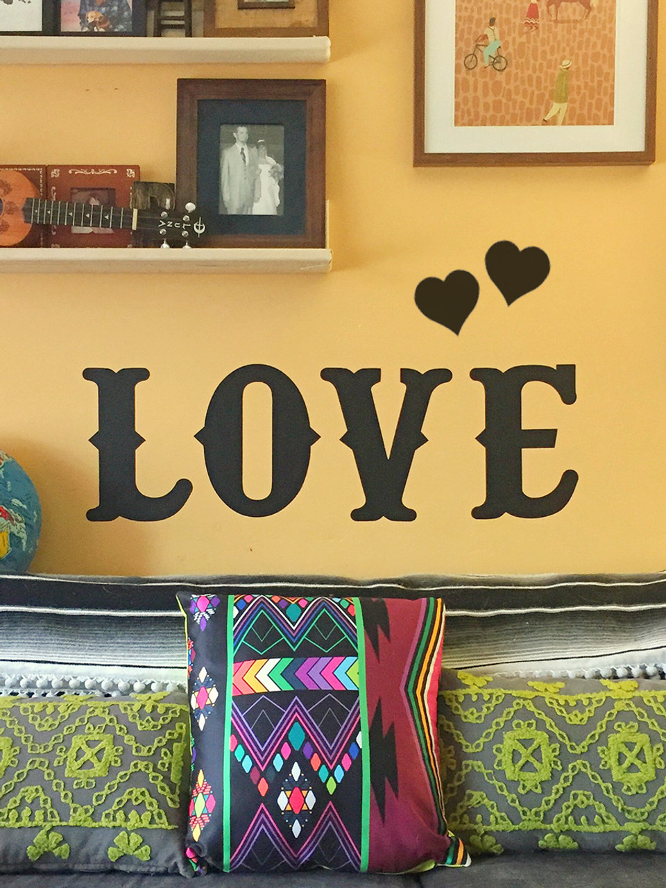 Removable LOVE Chalkboard Wall Decals by Earmark Social Goods Inc.