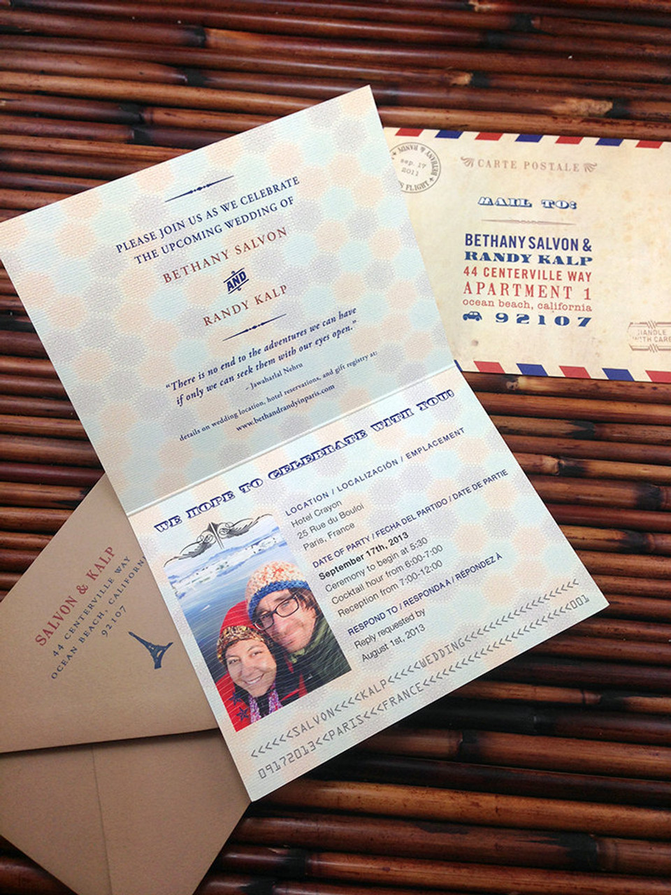 the wanderlust passport invitation is perfect for any