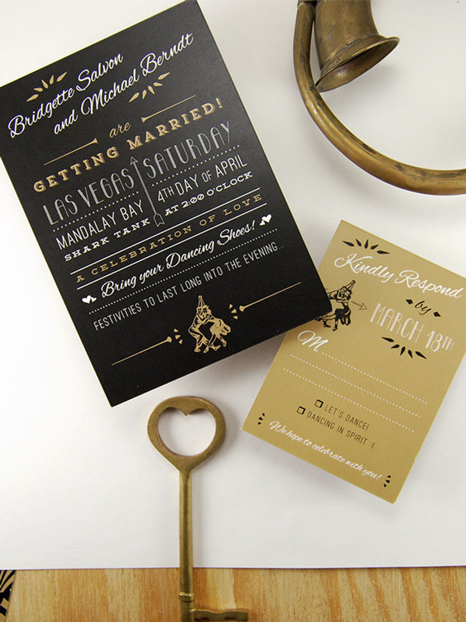 The Speakeasy Invitation Suite by Earmark Social Goods