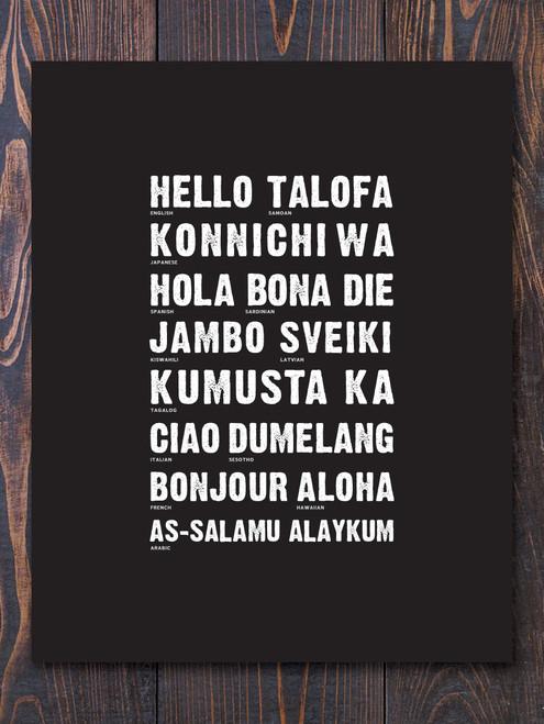 Global Hello Art Print