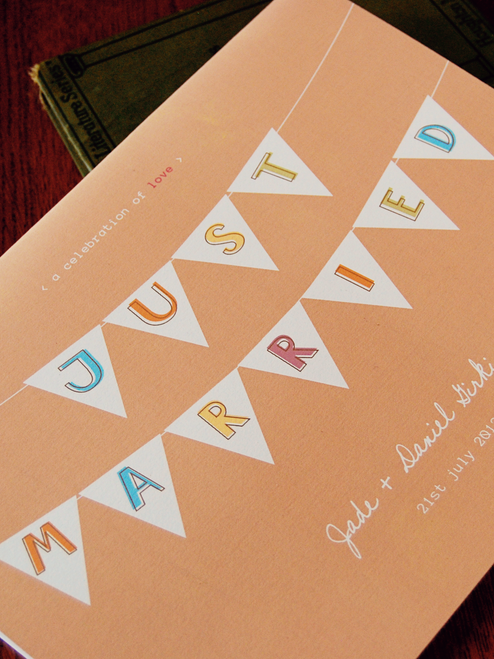 Pennant Wedding Guest Book