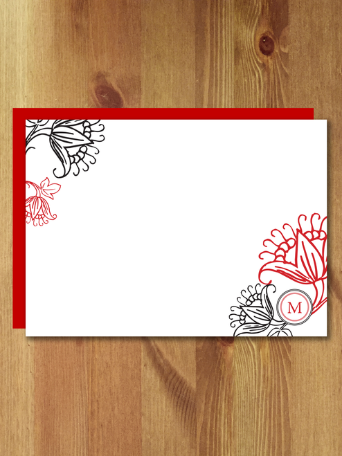 10 La Fleur Rouge Personalized Notes
