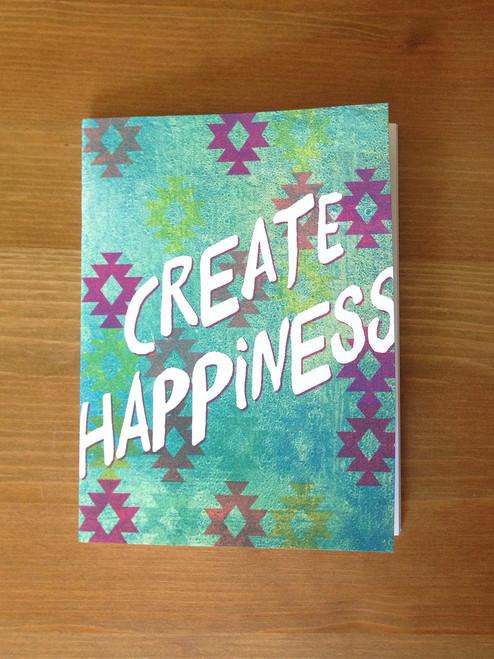 Ocean Aztec Create Happiness Notebook