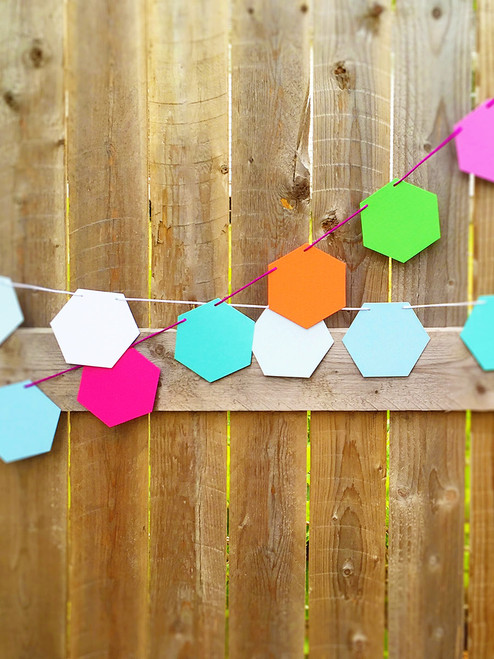 Fun and Festive Hexagon Garlands