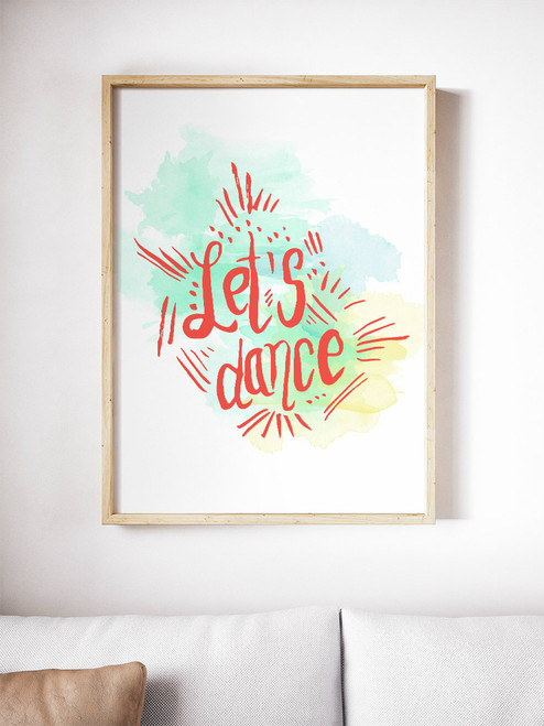 Super fun hand-lettered art print.