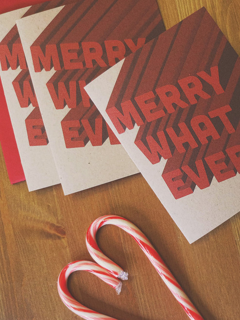 Merry Whatever funny holiday cards from Earmark Social Goods