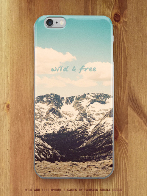 Fantastic Wild and Free iPhone case! Beautiful Rocky Mountains.
