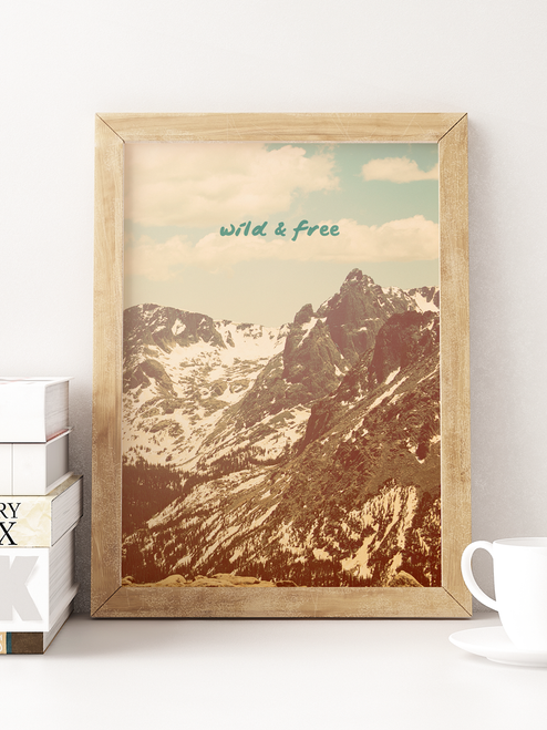 Beautiful art print inspired by our Colorado road trips.