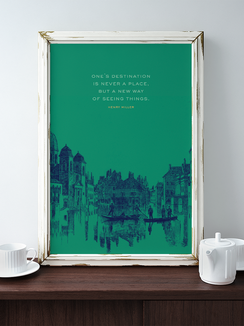 This Henry Miller quote makes for a wonderfully adventurous piece of art. Ready to inspire any home!