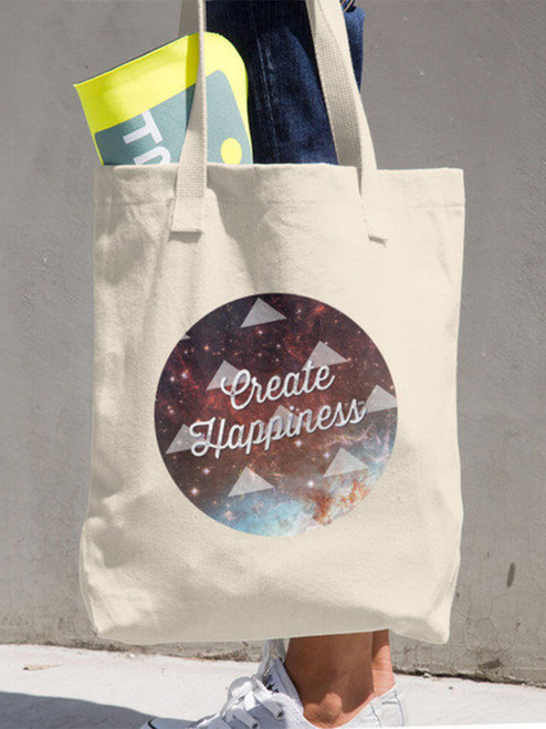 Loving this Create Happiness™ Galaxy  Cotton Tote bag. Made in America too! via Earmark Social Goods