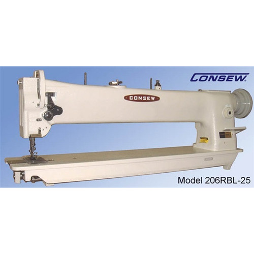 """206RBL-25 Single Needle Walking Foot 25"""" Long Arm (Complete with Table, Motor & Stand)"""