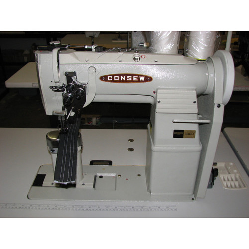 369RB-2 Double needle, post bed, walking foot, split needle bar, with manual reverse (Complete with Table, Motor & Stand)