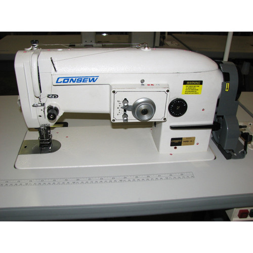 Consew 146RB-1A-1 Single Needle Zig Zag walking foot machine (Complete with table, motor & stand)