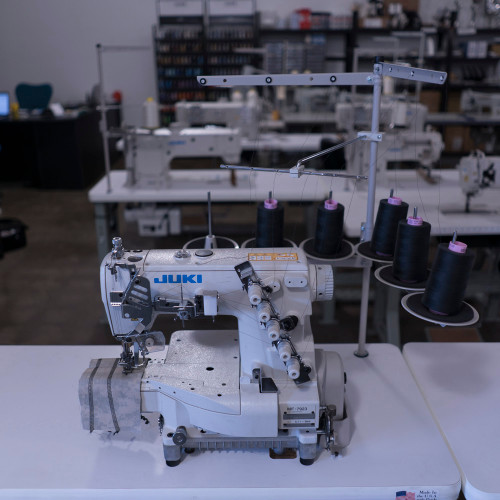 MF-7923U11B56(64) 3 Needle Bottom Feed Coverstitch (Setup complete with table, motor & stand)