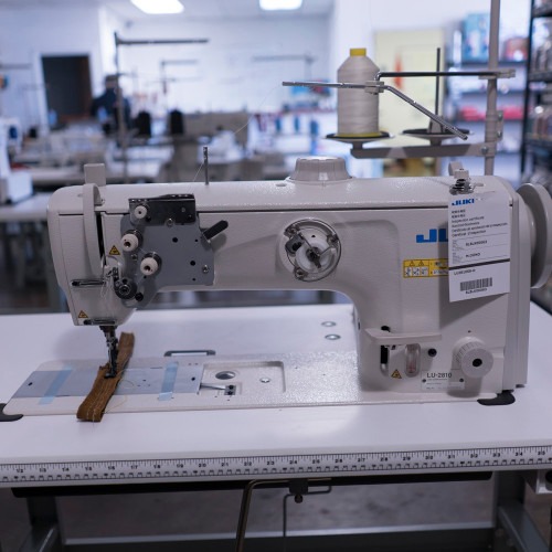 LU-2810 Single Needle Walking foot (Setup complete with table, motor & stand)