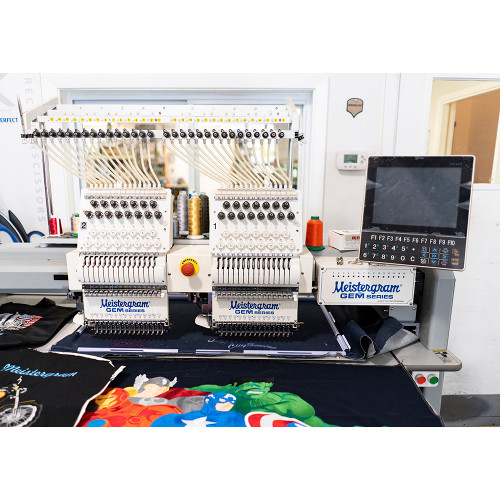 Gem 1502 - 15 Needle 2 Head Bridge Embroidery Machine