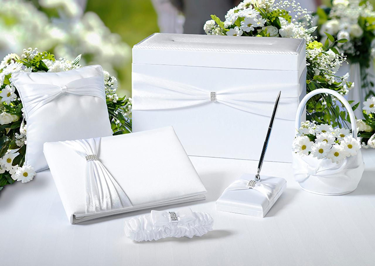 White Sash Wedding Set