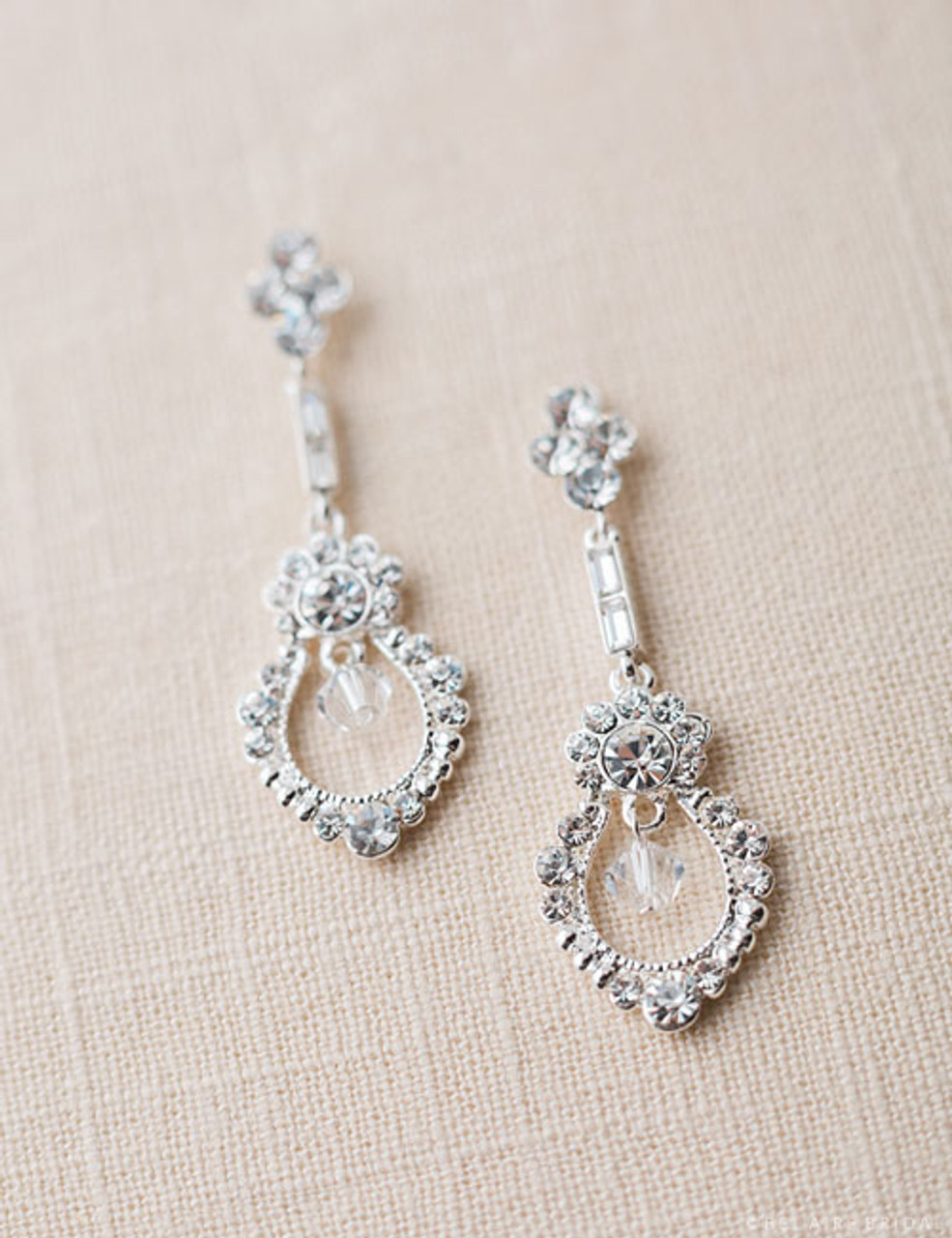Bel aire bridal jewelry earrings ea205 frame crystal for Bel aire bridal jewelry