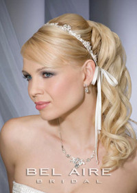 Bel aire bridal sh208 crystal and silver bead shoulder jewelry for Bel aire bridal jewelry