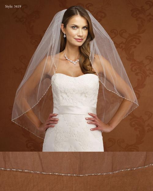 Marionat Bridal Veils 3418- Pearl Edge-The Bridal Veil Company