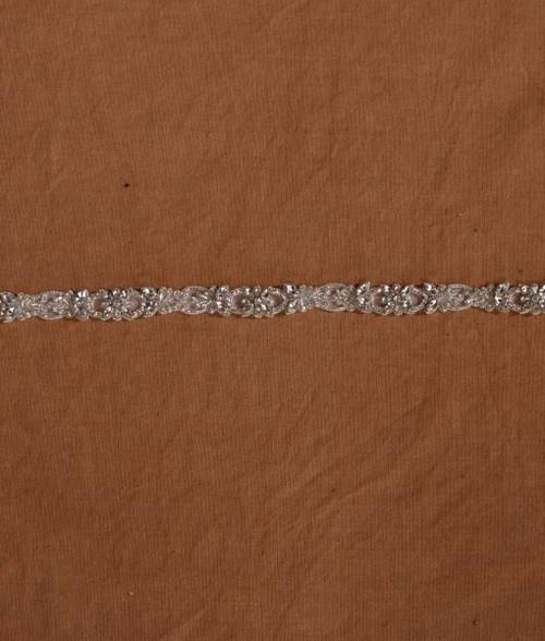 "Marionat Bridal Belt 1062 -Beaded Rhinestone Belt with Ribbon  30"" Long-The Bridal Veil Company"