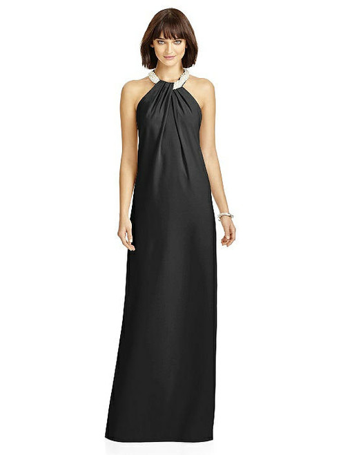 Dessy Collection Style 2971 - Black Color - Crepe - In Stock Dress