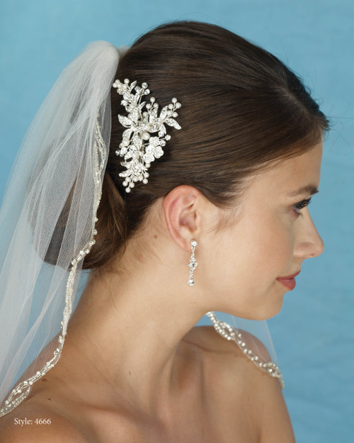 Marionat Bridal 4666 Pearl and Rhinestone Clip - Le Crystal Collection