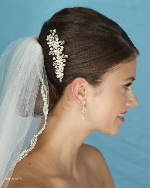 Marionat Bridal 4675 Pearl, Crystal and Rhinestone Comb - Le Crystal Collection