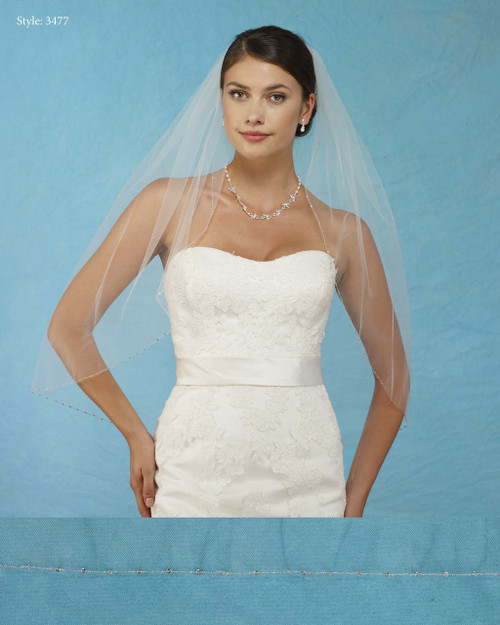 Marionat Bridal Veils 3477 - Beaded Edge - The Bridal Veil Company