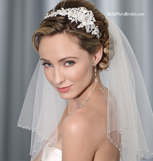 Bel aire bridal headband 6335 for Bel aire bridal jewelry
