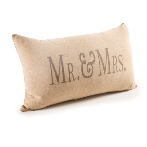 Decorative Beige Mr And Mrs Throw Pillow 40 X 40 Inches Darice Unique Mr And Mrs Decorative Pillows