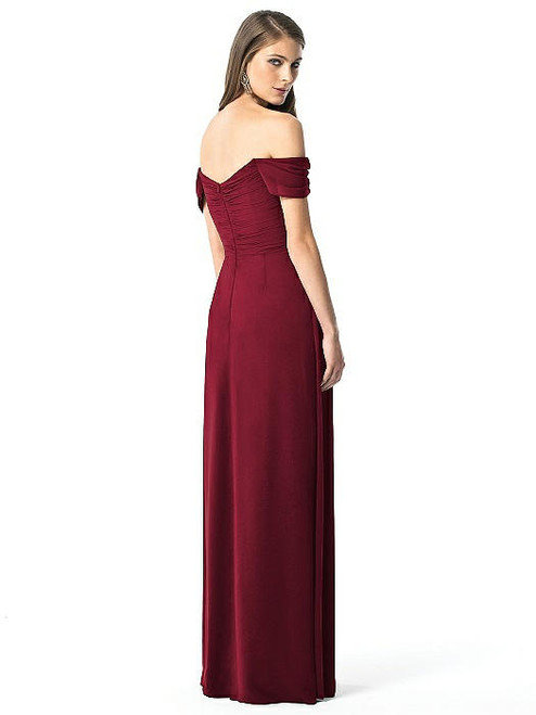 Dessy Bridesmaids | Dessy Bridesmaids Dress Style 2844 Burgundy Lux Chiffon In