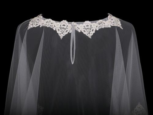 En Vogue Bridal Capelet CP1829 - Lace and beaded design