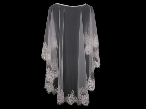 En Vogue Bridal Capelet CP1826 - Lace and beaded edge