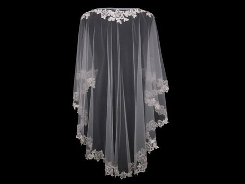 En Vogue Bridal Capelet CP1825 - Lace and beaded edge