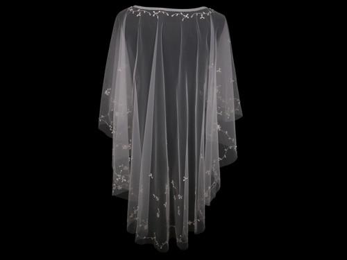En Vogue Bridal Capelet CP1819 - Beaded design