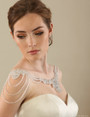 Bel Aire Bridal SH208 Crystal and silver bead shoulder jewelry