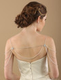 Bel Aire Bridal SH209 - Silver bead and crystal shoulder jewelry