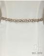 Bel Aire Bridal Belt BT079 - Narrow Rhinestone Belt (Rose Gold or Silver)