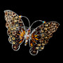 Silver Topaz AB Rhinestone Butterfly Barrette 5090 XXL