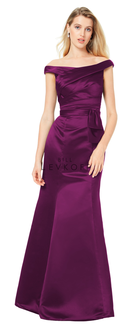 Bill Levkoff Bridesmaid Dress Style 1512 - Chiffon Dress, European Satin