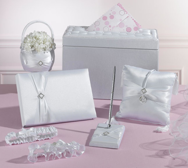 Wedding Gown Preservation Kit: White Rhinestone Wedding Set In A Card Box
