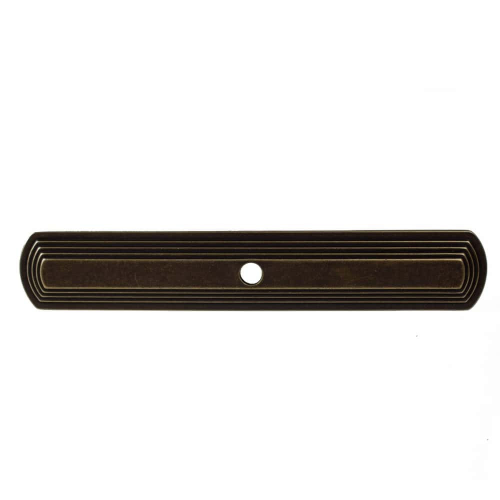 6 Inch Narrow Rounded Rectangle Cabinet Backplate - 1079