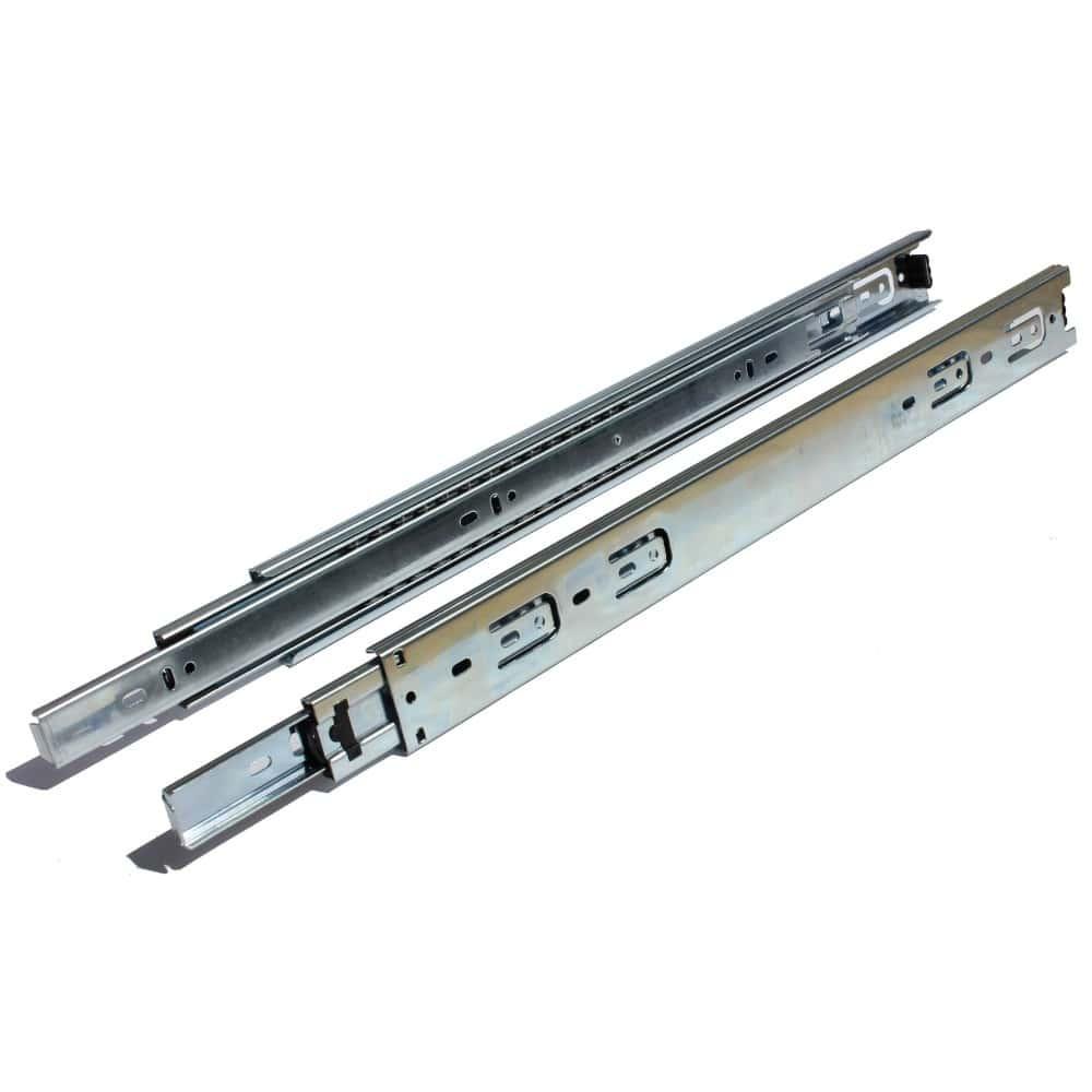 22 Inch Side Mount 100 lb. 1 Inch Over-Travel Drawer Slide - 2270